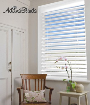gloss_white_blind_with_ladder_strings_wooden_blind_fitters_london