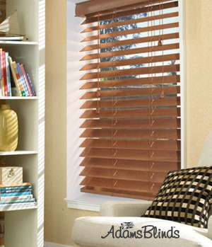 golden_oak_blind_with_ladder_strings_wooden_blind_fitters_london