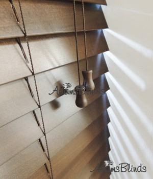 walnut_blind_with_ladder_strings_wooden_blind_fitters_london