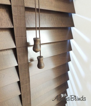 walnut_blind_with_ladder_tapes_wooden_blind_fitters_london