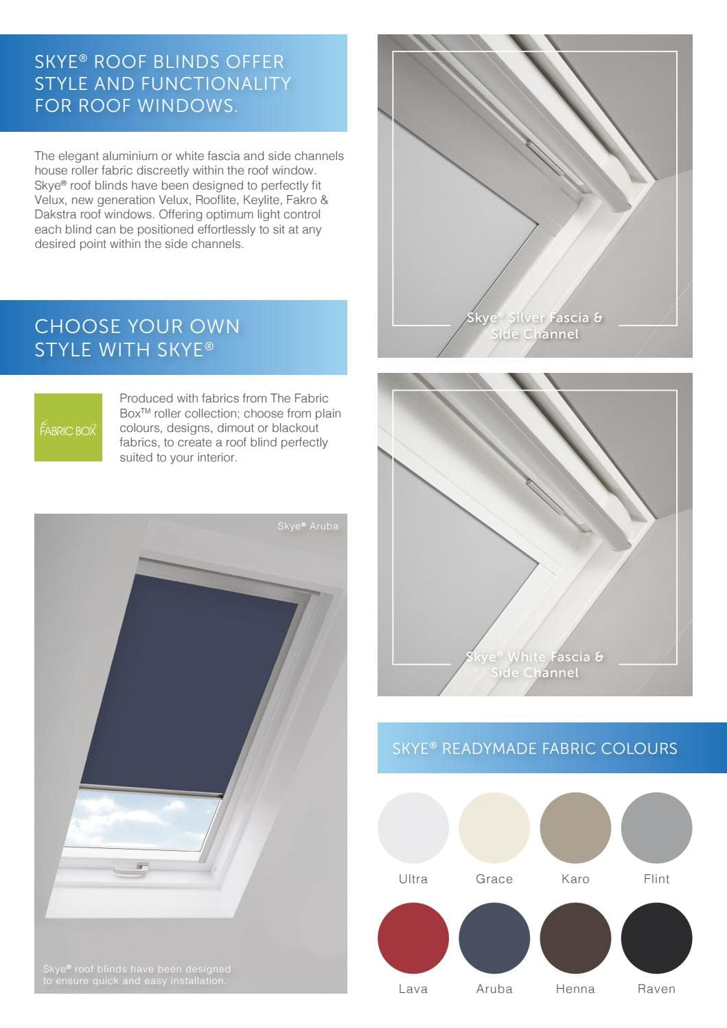 Velux, Fakro, Roof Blinds, Supply and Installation