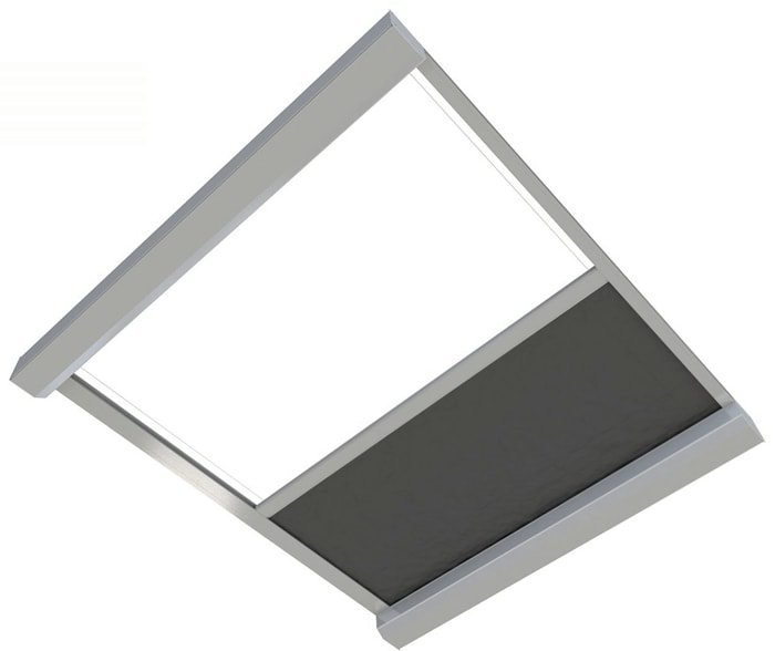 Reverse Orienatation Skylight Blinds