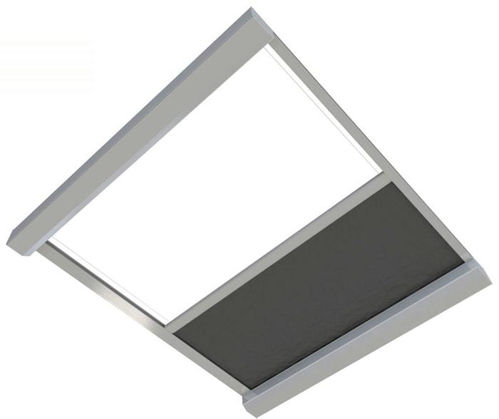 Reverse Orienatation Skylight Blinds